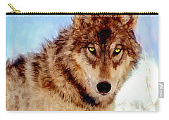 Mexican Wolf Painting Carry-all Pouch
