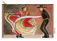 Mexico City Ballet Folklorico Carry-all Pouch by Frank Hunter