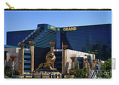 Mgm Grand Hotel Casino Carry-all Pouch by Mariola Bitner