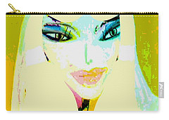 Carry-all Pouch featuring the mixed media Mia 2 by Ann Calvo