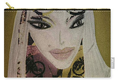 Carry-all Pouch featuring the mixed media Mia by Ann Calvo