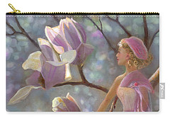 Carry-all Pouch featuring the painting Mia Magnolia Fairy by Nancy Lee Moran