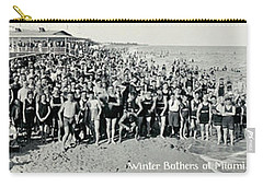 Miami Beach Sunbathers 1921 Carry-all Pouch by Jon Neidert