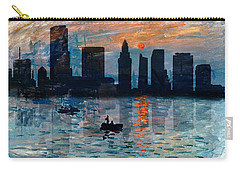 Miami Skyline 7 Carry-all Pouch by Andrew Fare