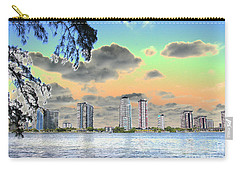 Miami Skyline Abstract Carry-all Pouch by Christiane Schulze Art And Photography