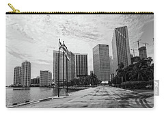 Miami Skyline Carry-all Pouch by George Martinez