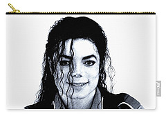 Carry-all Pouch featuring the drawing Michael Jackson Pencil Drawing  by Movie Poster Prints