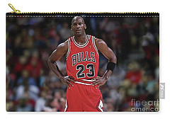 Michael Jordan, Number 23, Chicago Bulls Carry-all Pouch by Thomas Pollart