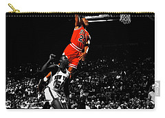 Michael Jordan Suspended In Air Carry-all Pouch