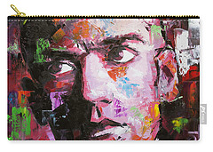 Carry-all Pouch featuring the painting Michael Stipe by Richard Day