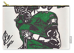 Carry-all Pouch featuring the drawing Micheal Vick by Jeremiah Colley