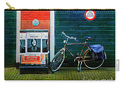 Carry-all Pouch featuring the photograph Michel De Hey Bicycle by Craig J Satterlee