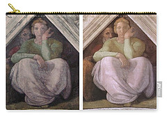 Restoration Before And After Michelangelo Ancestors Sistine Chapel  Carry-all Pouch by Suzanne Powers