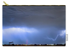 Carry-all Pouch featuring the photograph Michelangelo Lightning Strikes Oil by James BO Insogna