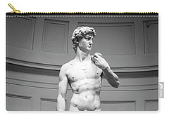 Carry-all Pouch featuring the photograph Michelangelo's David by Sonny Marcyan