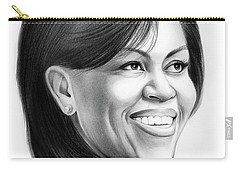 Michelle Obama Carry-all Pouch by Greg Joens