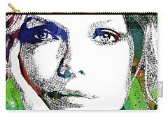 Michelle Pfeiffer Carry-all Pouch by Mihaela Pater