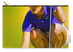 Michelle Wie Lines Up Her Putt  Carry-all Pouch