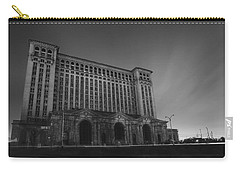 Michigan Central Station At Midnight Carry-all Pouch