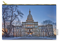 Carry-all Pouch featuring the photograph Michigan State Capitol by Nicholas Grunas