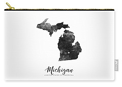 Michigan State Map Art - Grunge Silhouette Carry-all Pouch