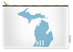Michigan State Map With Text Of Constitution Carry-all Pouch