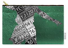 Michigan State Spartans Basketball Player Recycled Michigan License Plate Art Carry-all Pouch