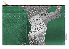 Michigan State Spartans Receiver Recycled Michigan License Plate Art Carry-all Pouch