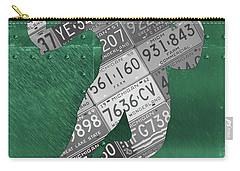 Michigan State Spartans Running Back Recycled Michigan License Plate Art Carry-all Pouch