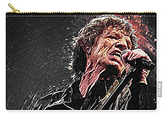 Mick Jagger Carry-all Pouch by Taylan Apukovska