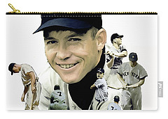 Mickey Mantle Legacy, II  Carry-all Pouch by Iconic Images Art Gallery David Pucciarelli