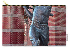 Mickey Mantle Plaza Carry-all Pouch by Frozen in Time Fine Art Photography