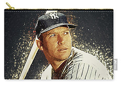 Mickey Mantle Carry-all Pouch by Taylan Apukovska