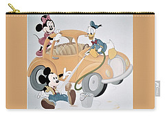 Micky,minnie And Donald On Car Carry-all Pouch