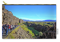 Mid-atlantic Rise In Thingvellir, Carry-all Pouch by Allan Levin