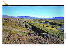 Mid-atlantic Rise In Thingvellir, Iceland Carry-all Pouch by Allan Levin