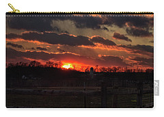 Carry-all Pouch featuring the photograph Mid Ohio Sunset by Bruce Patrick Smith
