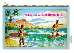 Mid Pacific Carnival Hawaii Surfing 1915 Carry-all Pouch by Peter Gumaer Ogden