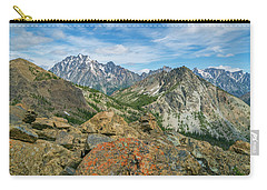 Carry-all Pouch featuring the photograph Midday At Iron Peak by Ken Stanback