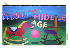 Middle Age Birthday Card Carry-all Pouch by Thomas Blood