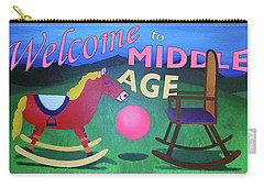 Middle Age Birthday Card Carry-all Pouch