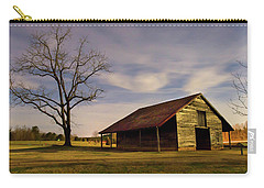Carry-all Pouch featuring the photograph Midnight At The Mule Barn by George Randy Bass