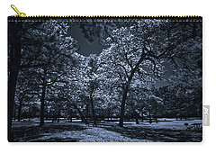 Carry-all Pouch featuring the photograph Midnight Blues by Linda Unger