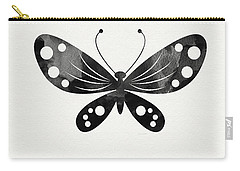 Midnight Butterfly 3- Art By Linda Woods Carry-all Pouch by Linda Woods