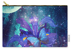 Carry-all Pouch featuring the digital art Midnight Butterfly by Mo T
