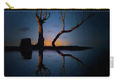Carry-all Pouch featuring the photograph Midnight Dance Of The Trees by Mark Andrew Thomas