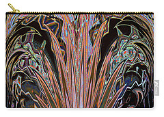 Carry-all Pouch featuring the digital art 	Midnight Enchantment Botanical				 by Ann Johndro-Collins