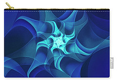 Carry-all Pouch featuring the digital art Midnight Flower by Jutta Maria Pusl