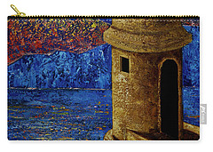 Carry-all Pouch featuring the painting Midnight Mirage In San Juan by Oscar Ortiz