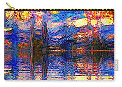 Carry-all Pouch featuring the painting Midnight Oasis by Holly Martinson